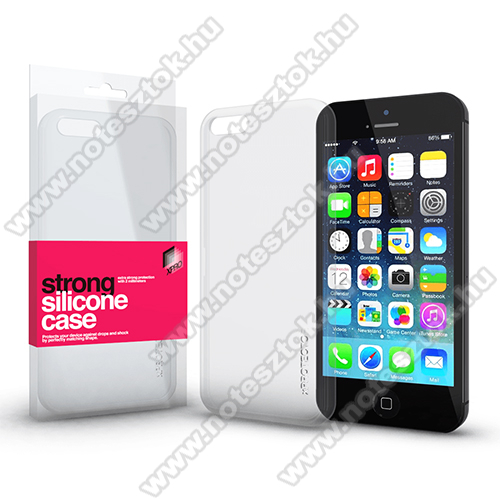 Xpro szilikon védő tok / hátlap - STRONG 2mm - ÁTLÁTSZÓ - Apple iPhone 5 / Apple iPhone 5S / Apple iPhone SE (2016) - GYÁRI