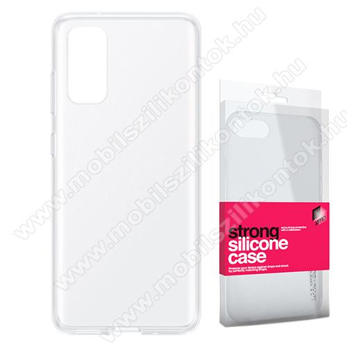 Xpro szilikon védő tok / hátlap - STRONG 2mm - ÁTLÁTSZÓ - SAMSUNG Galaxy S20 (SM-G980F) / SAMSUNG Galaxy S20 5G (SM-G981) - GYÁRI