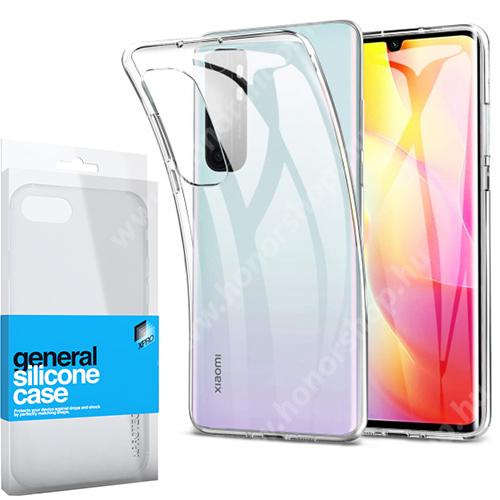 Xpro szilikon védő tok / hátlap - ULTRAVÉKONY! 0.33mm - ÁTLÁTSZÓ - Xiaomi Mi Note 10 Lite - GYÁRI