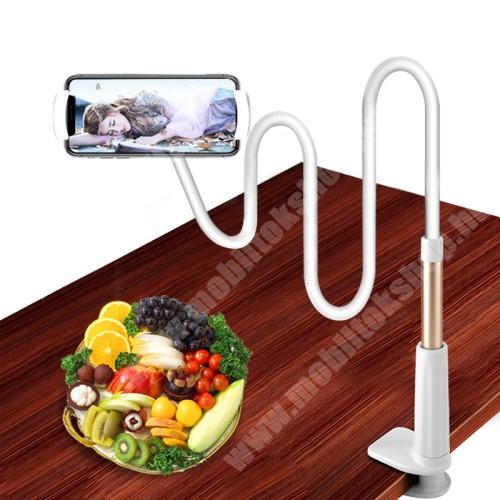 PRESTIGIO MultiPad 8.0 PRO DUO YESIDO C37 UNIVERZÁLIS tablet Pc és okostelefon állvány - asztallapra szerelhető, 112-190mm-ig állítható bölcső, elforgatható, flexibilis 80 cm hosszú tartókarral