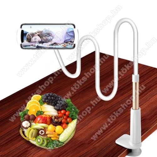 YESIDO C37 UNIVERZÁLIS tablet Pc és okostelefon állvány - asztallapra szerelhető, 112-190mm-ig állítható bölcső, elforgatható, flexibilis tartókarral