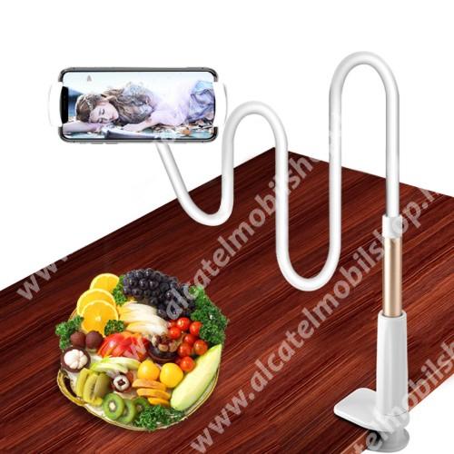 YESIDO C37 UNIVERZÁLIS tablet Pc és okostelefon állvány - asztallapra szerelhető, 112-190mm-ig állítható bölcső, elforgatható, flexibilis 80 cm hosszú tartókarral