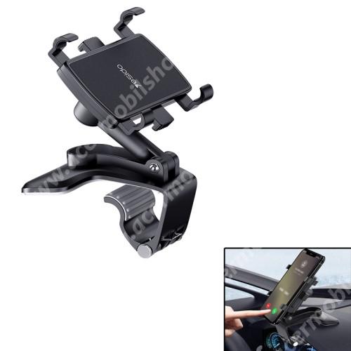 ACER Liquid Z3 YESIDO univerzális gépkocsi / autós tartó - FEKETE - műszerfalra rögzíthető, 53-96mm-ig nyíló bölcsővel, 180°-ban dönthető, 360°-ban elforgatható - C101 - GYÁRI
